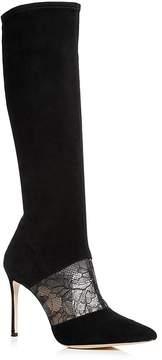 Pour La Victoire Women's Ceri Suede & Lace Tall Boots