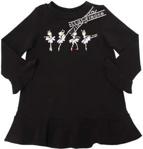 Simonetta Dancers Printed Cotton Sweatshirt Dress