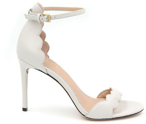 Rachel Zoe Ava Scalloped Leather Heeled Sandals