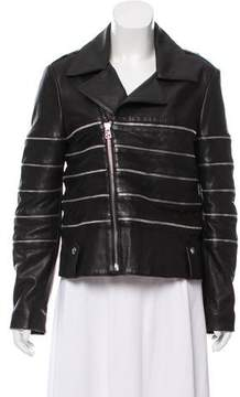 Each X Other Zip-Accented Leather Jacket