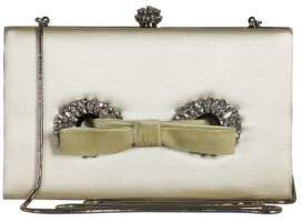 Badgley Mischka Autum Bow Jeweled Clutch
