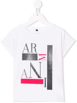 Emporio Armani Kids short sleeves printed T-shirt