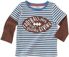 Mud Pie Baby Boys 12-24 Months Thanksgiving Football Long-Sleeve Tee