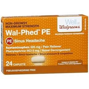 Walgreens Wal-Phed PE Sinus Headache Caplets