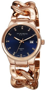 Akribos XXIV Rose Gold-tone Base metal Ladies Watch