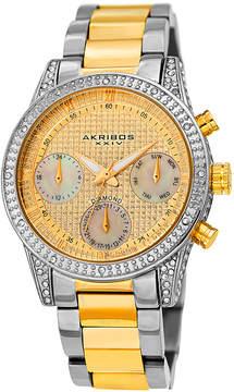 Akribos XXIV Diamond Gold Dial Men's Watch
