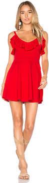 Susana Monaco Ruffle Neckline 16 Dress