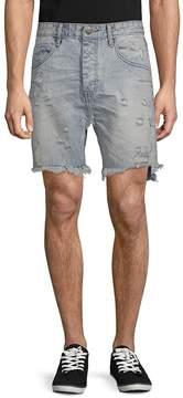 One Teaspoon Men's Distressed Denim Shorts