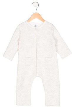 Petit Bateau Boys' Textured Long Sleeve All-In-One