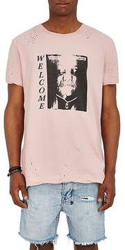 Ksubi Men's Welcome Distressed Cotton T-Shirt