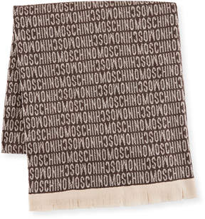 Moschino Wool Logo Blanket, Brown