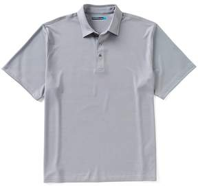 Roundtree & Yorke Performance Short-Sleeve Jacquard Polo