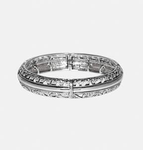 Avenue Silver Swirl Cutout Bracelet