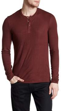 ATM Anthony Thomas Melillo Long Sleeve Rib Henley Shirt