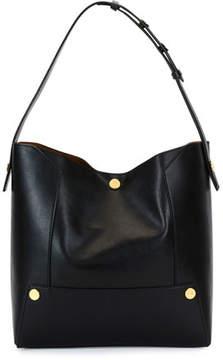 Stella McCartney Alter Textured Eco Faux-Napa Shoulder Bag, Black