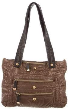 Tod's Leather-Trimmed Pashmy Tote