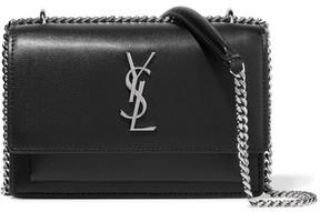 Saint Laurent - Sunset Textured-leather Shoulder Bag - Black