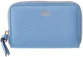 Gucci Blue Leather Swing Card Case - ONE COLOR - STYLE