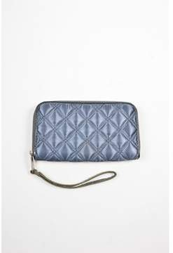 Marc by Marc Jacobs Pre-owned Gunmetal Quilted Nylon Leather Zip Up Wristlet Wallet.