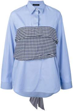 Cédric Charlier vichy poplin shirt