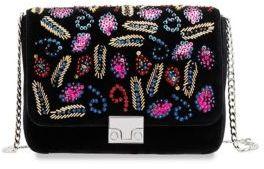 Loeffler Randall Lock Velvet Shoulder Bag