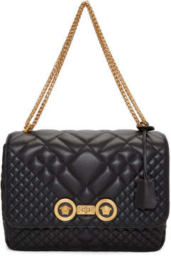 Versace Black Quilted Icon Shoulder Bag