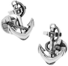 Ox & Bull Trading Co. Men's Sterling Silver Boat Anchor Cufflinks