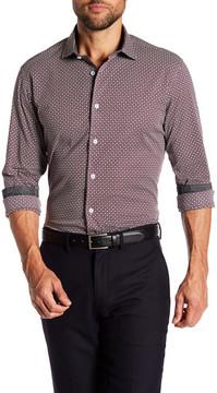 Ganesh Cotton Stretch Modern Fit Print Shirt