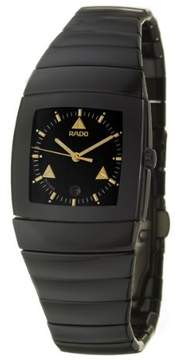 Rado Sintra Quartz Black Dial Black Ceramic Ladies Watch
