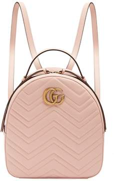 Gucci GG Marmont quilted-leather backpack - PINK - STYLE