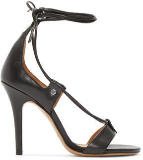 Isabel Marant Black Leather Lace-Up Anais Sandals