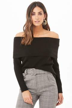 Forever 21 Ribbed Off-the-Shoulder Sweater