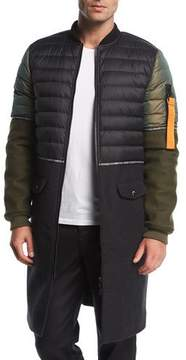 Mostly Heard Rarely Seen MA-1 Hybrid Quilted Jacket