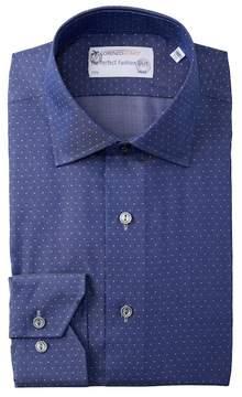 Lorenzo Uomo Pin Dot Trim Fit Dress Shirt