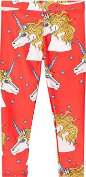Mini Rodini Red Unicorn Star Fancy Leggings