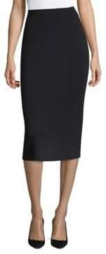 Eileen Fisher Pencil Cut Midi Wool Skirt