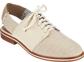 ED Ellen Degeneres Fabric and Leather Oxfords - Lavanah