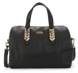 Versace Chevron Hardware Leather Satchel
