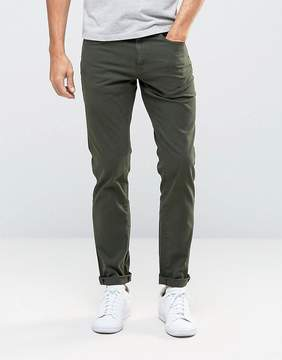 Pull&Bear Slim 5 Pocket Jeans In Khaki