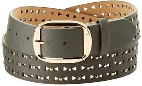 Charlotte Russe Plus Size Studded Laser Cut Belt