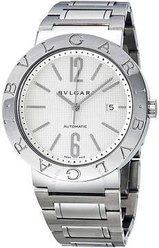 Bvlgari Automatic White Dial Stainless Steel Men's Watch