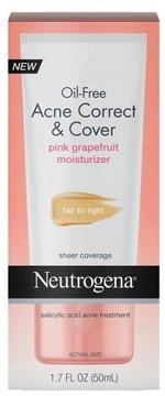Neutrogena Oil Free Acne Correct & Cover Pink Grapefruit Fair to Light -1.7 fl oz
