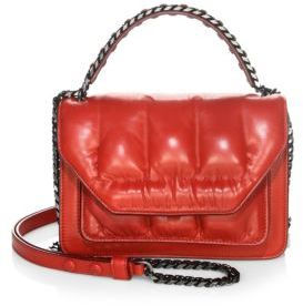 Elena Ghisellini Eclipse Quilted Leather Clutch