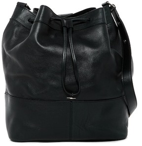 Shinola Convertible Drawstring Leather Bucket Bag