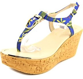 Callisto Barton Open Toe Canvas Wedge Sandal.