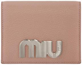 Miu Miu Pink Large Foldover Wallet