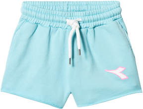 Diadora Turquoise Logo Sweat Shorts