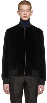Paul Smith Black Velvet Casual Bomber Jacket