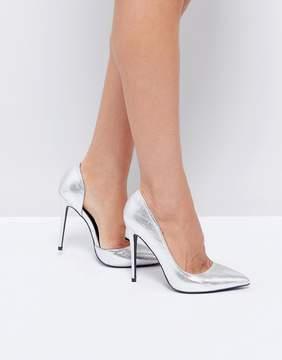 Public Desire Margi Silver Heeled Shoes