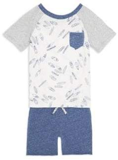Splendid Baby's, Toddler's& Little Boy's Tee and Shorts Set